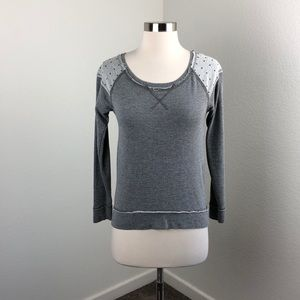Rewind gray studded sweater